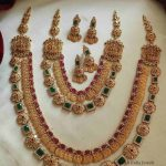 Multi-Stones Layered Lakshmi Kasula Haram By South India Jewels