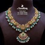 Gold Nakshi Kundan Laxmi Haram By Amarsons Jewellery!