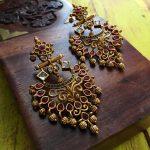 Pure Kemp Chandelier Earrings By Nakshatra by Sha!!