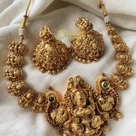 Gold Lookalike Nakshi Nagas Choker Necklace