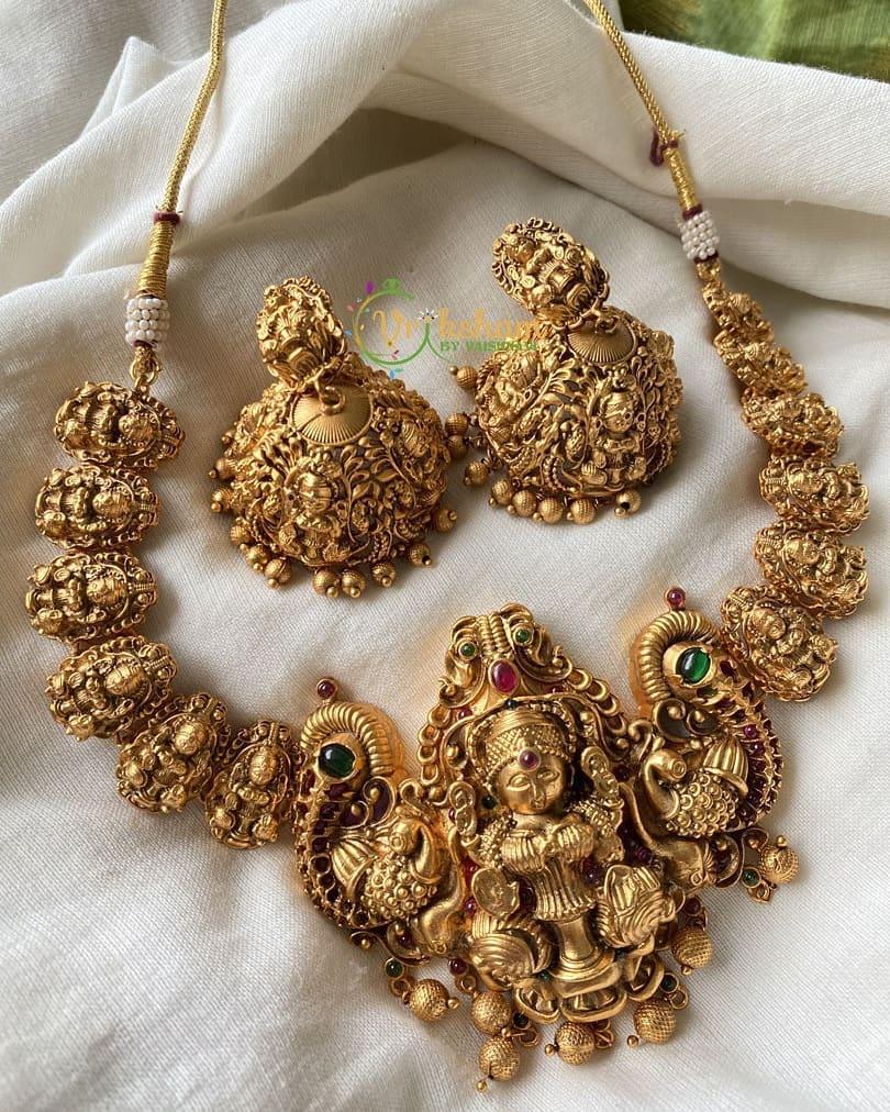gold-lookalike-nakshi-nagas-choker-necklace