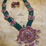 Green Beads Kundan Guttapusalu Necklace Set