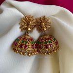 Traditional Peacock Design Kemp Jhumkas By House Of Jhumkas