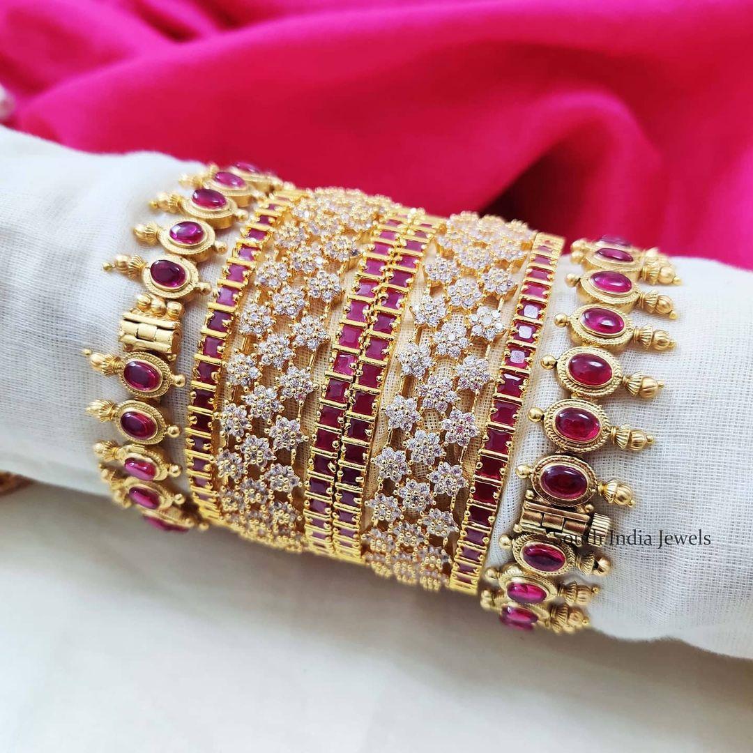 red-stones-diamond-bangle-set