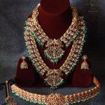 Regal Gold Finish Bridal Jewellery Set