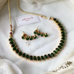 Simple Green Kemp Necklace Set