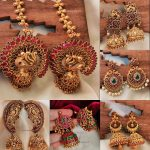 Stunning Temple Designs Jhumkas By The South India Jewels!