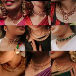 Stylish And Traditional Choker Patterns by South India Jewels