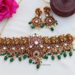 Bridal Antique Peacock Design Choker By South India Jewels!