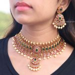 Classic Floral Design Choker By South India Jewels!