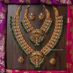 Dual Peacock Bridal Short and Long Necklace By South India Jewels!