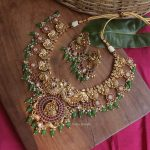 Gorgeous Peacock Design Necklace By South India Jewels!