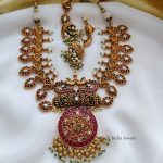 Grand Bridal Kemp Stone Necklace By The South India Jewels!!