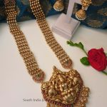 Grand Bridal Lakshmi Haram By South India Jewels!