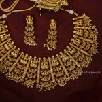 Grand Bridal Lakshmi Multi-Layer Necklace By South India Jewels