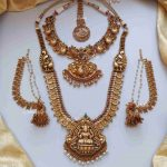 Imitation Antique Bridal Combo Set By South India Jewels!