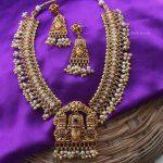 Lord Venkateshwara Pendant Long Haram By South India Jewels!