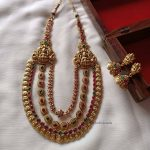 Triple Layered Statement Necklace Set By The South India Jewels!