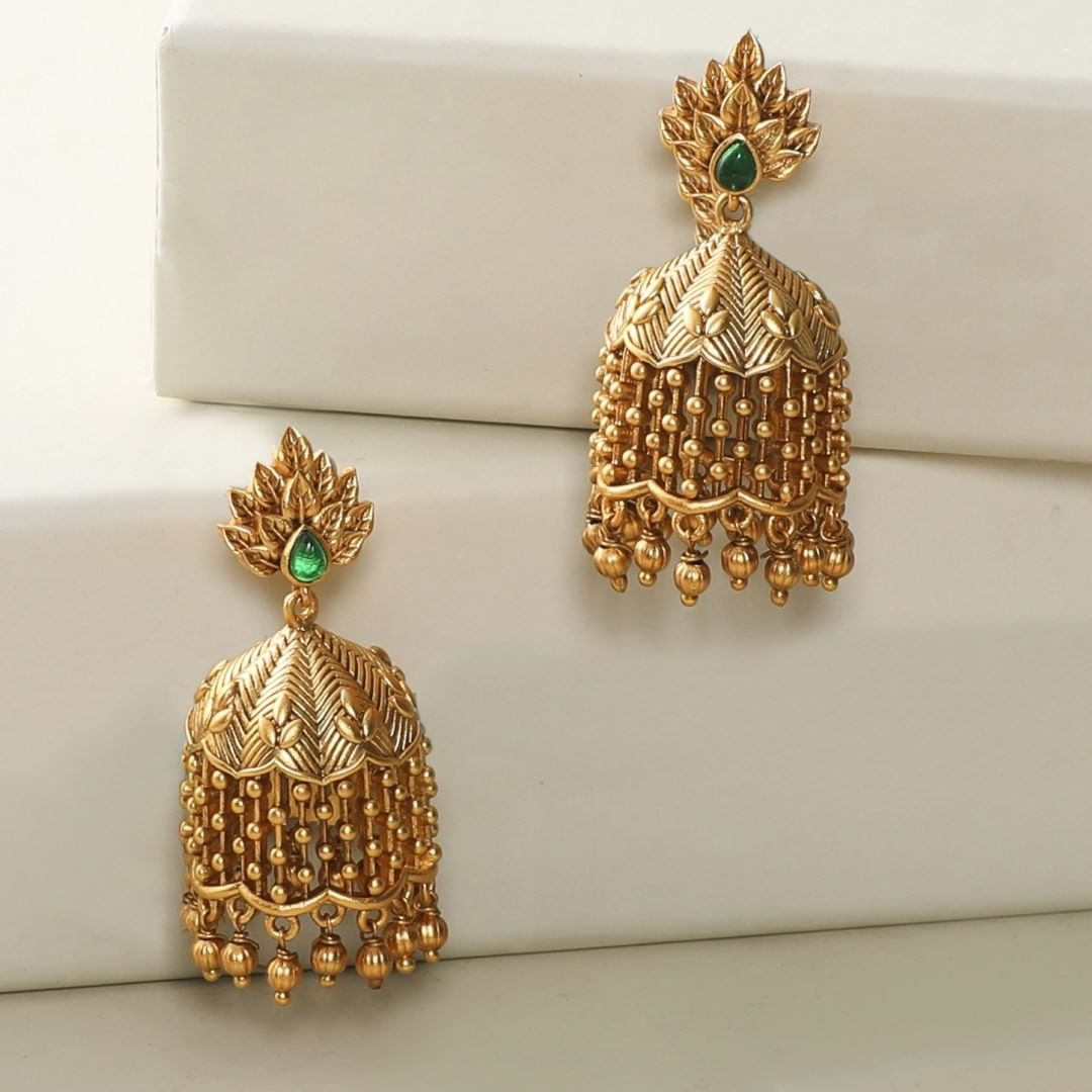 light-in-weight-antique-jhumkas