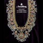 Gold Balaji Guttapusalu Necklace By Amarsons Jewellery!