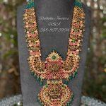 Kundan Rubies Studded Long Haram By Radhika Jewelers!