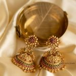 Antique Peacock Kemp Jhumkas By The South India Jewels!