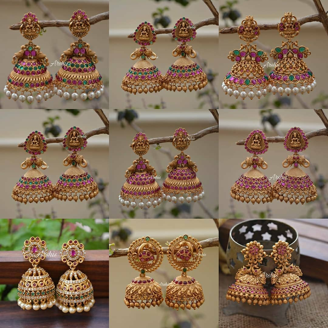 traditional-temple-jhumka-collection