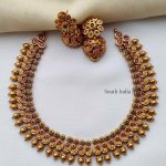 Gold Finish High Neck Choker By The South India Jewels!