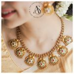 Meenakari Gold Plated Choker Haram By The Amethyst Store!!