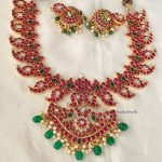Traditional Real Kemp Stone Mango Necklace By South India Jewels!