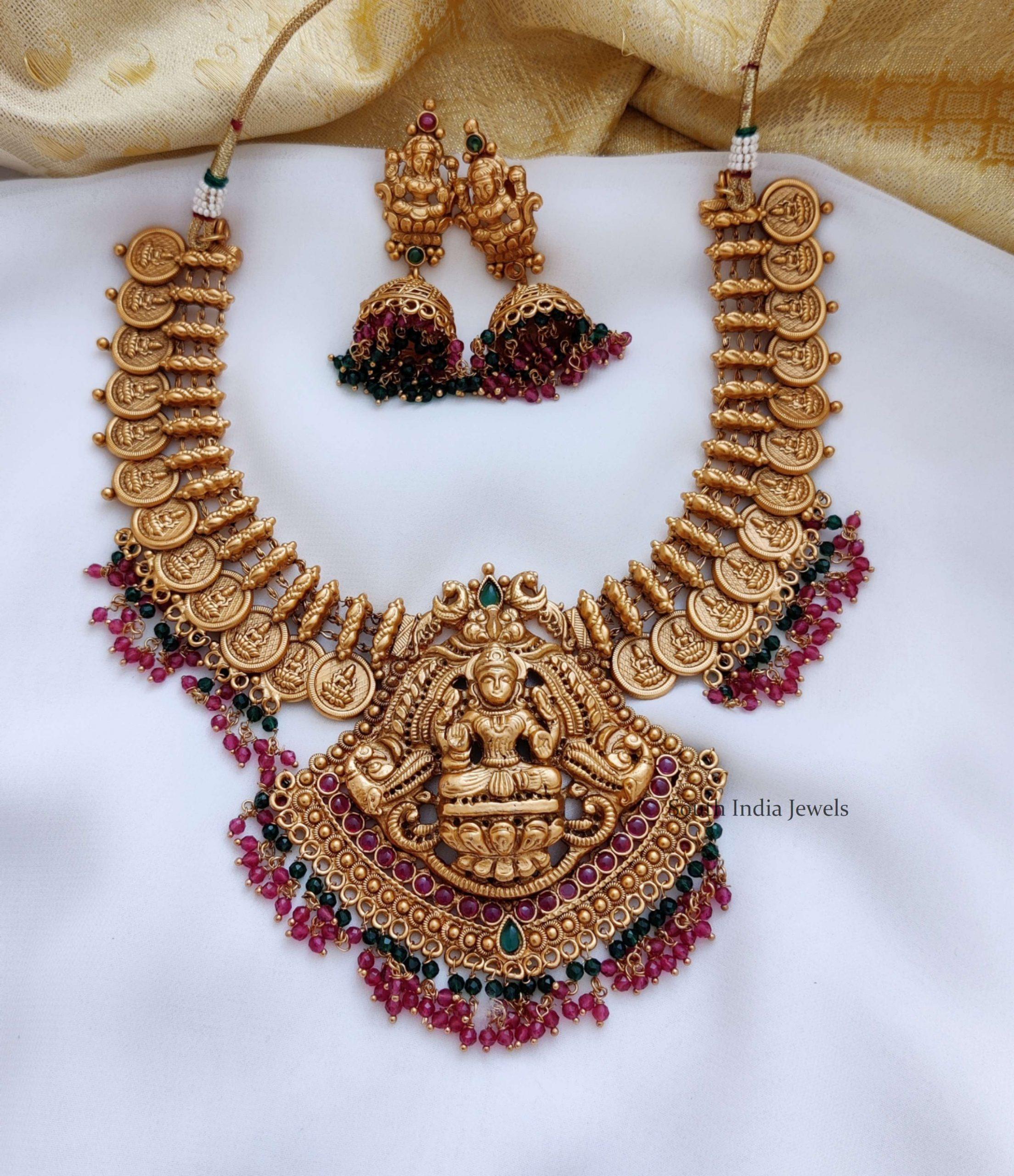 Traditional-Temple-Lakshmi-Design-Necklace