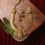 Trendy Peacock Design Lakshmi Dollar Haram By South India Jewels!