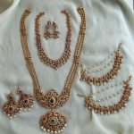 Pearl And Diamond Studded Bridal Set By Daivik!