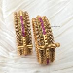 Beautiful Kundan And Ruby Bangles By South India Jewels!