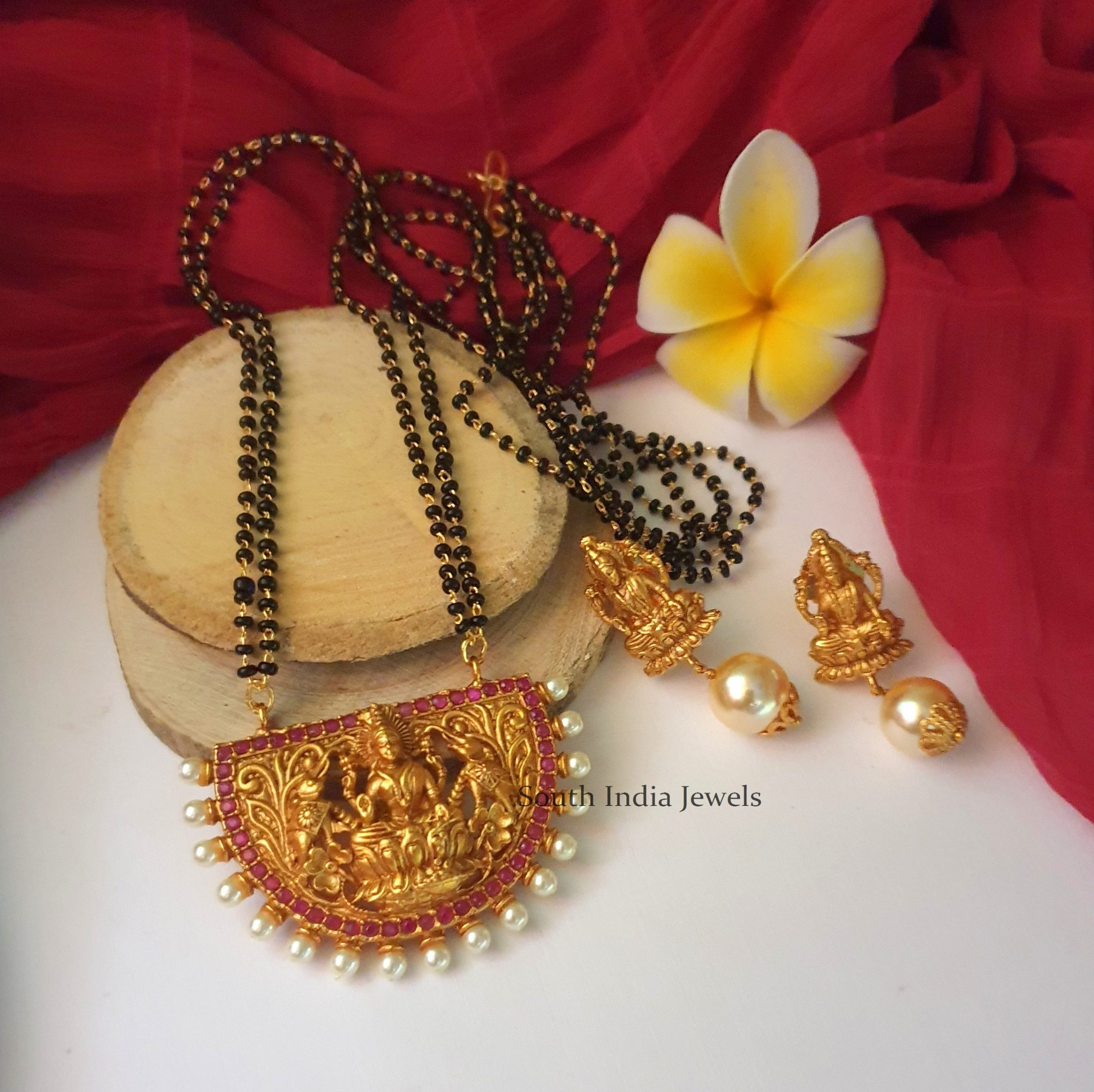 Beautiful-Lakshmi-Black-Beads-Chain