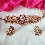 Beautiful Multi Stone Choker By South India Jewels!