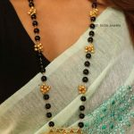 Fancy Black Beads Kundan Mangalsutra By South India Jewels!