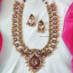 Grand Peacock Design Bridal Haram By South India Jewels!