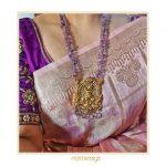 Krishna Nakshi Pendant In Amethyst Beads By Rajatamaya!
