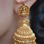 Elegant Imitation Lakshmi Design Jhumka By South India Jewels!