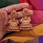Flower Design Bridal Jhumka By South India Jewels!