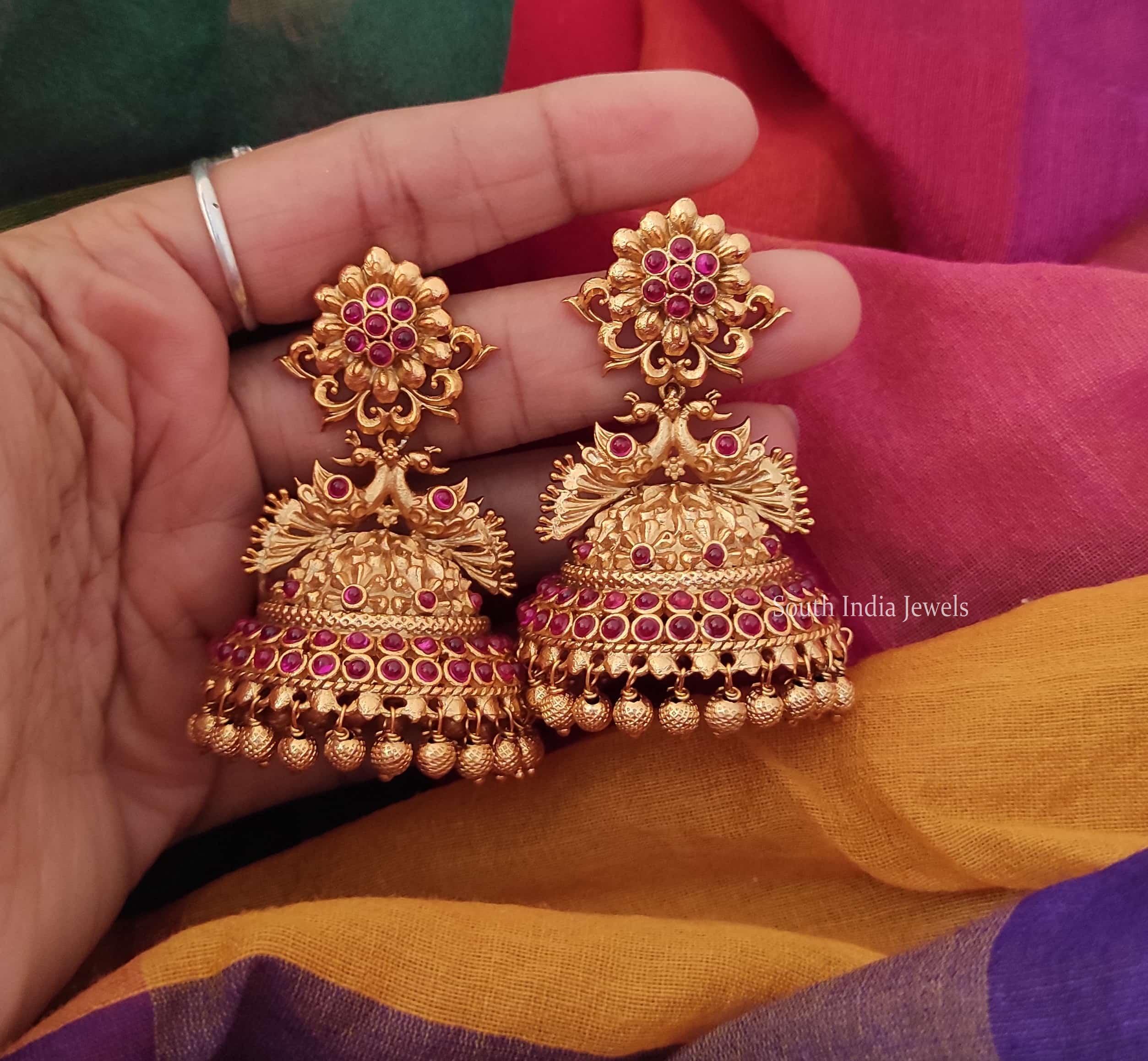 Flower-Design-Bridal-Jhumka