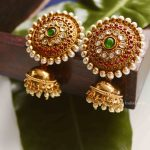 Designer Meenakari Pearl Jhumka By South India Jewels!