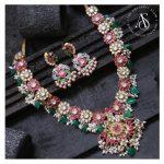 Kundan Studded Guttapusalu Necklace Set By The Amethyst Store!