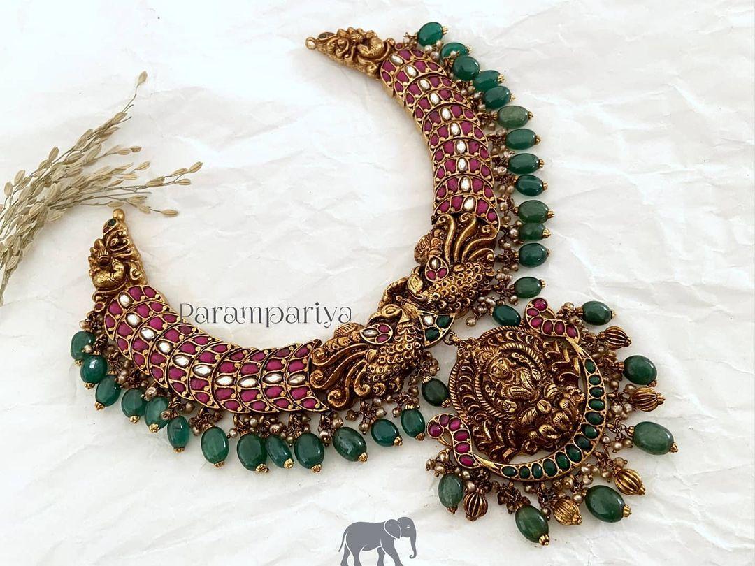 nakshi-lakshmi-peacock-necklace