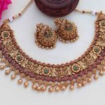 Grand Ruby & Kemp Stone Necklace By South India Jewels!