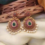 Beautiful Peacock Design Earrings By South India Jewels!