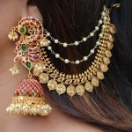 Peacock Statement Jhumkas With Matching Mattal By South India Jewels!