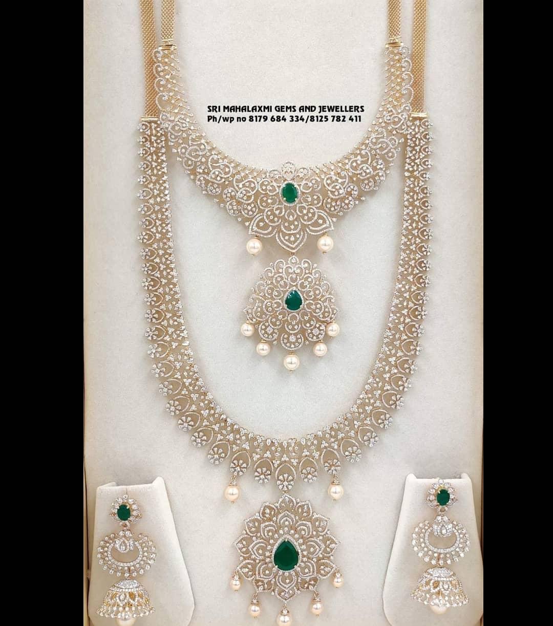 Long & Short Diamond Necklace