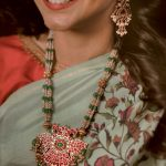 Gold plated Antique Kundan Haram by Ithihaasaa